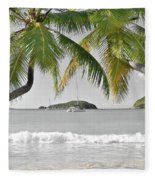 Going Green To Save Paradise Fleece Blanket