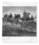 Going Into Battle - Civil War Fleece Blanket