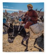 Going To The Rissani Market Fleece Blanket