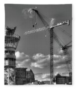 Going Up Midtown Atlanta Construction Art Fleece Blanket