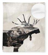 Going Wild Moose Fleece Blanket