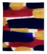 Gold Blue Fleece Blanket