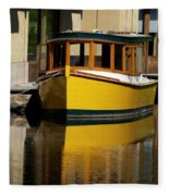Gold Boat Reflects Fleece Blanket
