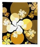 Gold Brown Spheres Fleece Blanket