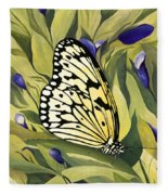 Gold Butterfly In Branson Fleece Blanket