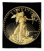 Gold Coin Front Fleece Blanket