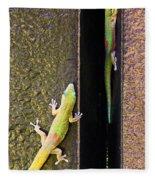 Gold Dusted Day Gecko Fleece Blanket