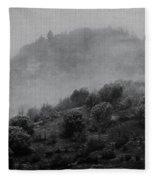Gold Hill Winter Scene Fleece Blanket