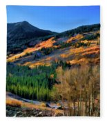 Gold In The Rockies Fleece Blanket
