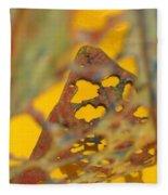 Gold Leaf 3 Fleece Blanket