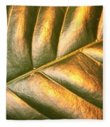 Gold Leaf Canvas Fleece Blanket