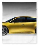 Gold Lexus Lf-ch Hybrid Car Fleece Blanket