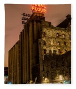 Gold Medal Flour Sign Fleece Blanket