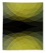 Gold Mine Semi Circle Background Horizontal Fleece Blanket