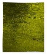 Gold Rain Droplets Fleece Blanket