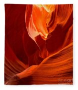 Gold Red And Orange Abstract Fleece Blanket