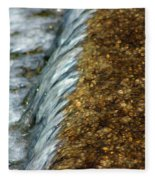 Gold Rush Abstract Fleece Blanket