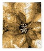 Gold Shimmer Fleece Blanket