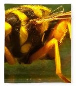 Gold Syrphid Fly Fleece Blanket