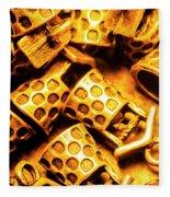 Gold Treasures Fleece Blanket