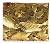 Gold Viper Fleece Blanket