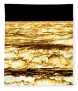 Gold Waves Fleece Blanket