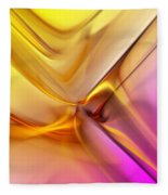 Golden Abstract 042711 Fleece Blanket