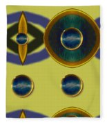 Golden Abstracte Fleece Blanket