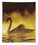 Golden African Swan Fleece Blanket