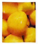 Golden Apples Of The Sun Fleece Blanket
