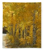 Golden Aspen Fleece Blanket