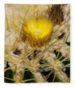 Golden Barrel Blossom Fleece Blanket