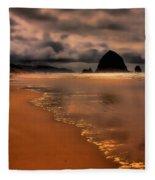 Golden Beach Fleece Blanket