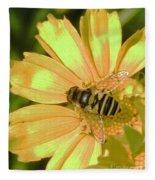 Golden Bee Fleece Blanket