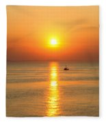 Golden Border  Fleece Blanket