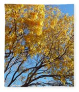 Golden Boughs Fleece Blanket