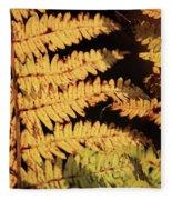 Golden Bracken Fleece Blanket