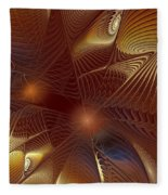 Golden Bronze Swirl Fleece Blanket