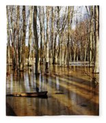 Golden Brown Pond Fleece Blanket