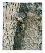 Golden Carpenter Ant  Fleece Blanket