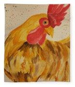Golden Chicken Fleece Blanket