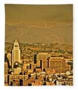 Golden City Hall La Fleece Blanket