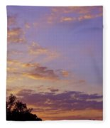 Golden Clouds At Sunset Fleece Blanket