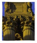 Golden Columns Palace Of Fine Arts Fleece Blanket