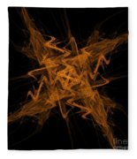 Golden Crosshatch Scribble  Fleece Blanket
