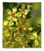 Golden Currant Blossoms Fleece Blanket