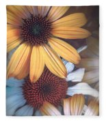 Golden Daisies Fleece Blanket