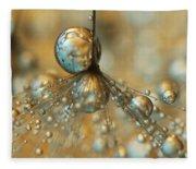 Golden Dandy Shower Fleece Blanket