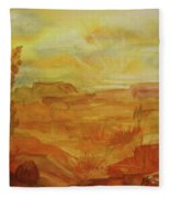 Golden Dawn Fleece Blanket