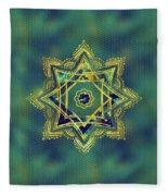 Golden Decorative Star Of Lakshmi - Ashthalakshmi  Fleece Blanket
